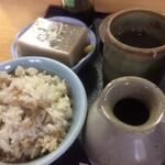 伯蕎庵 しばた - 蕎麦豆腐  炊き込みご飯