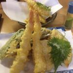 伯蕎庵 しばた - 天ぷら  海老野菜