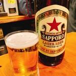 びっくりうどん - サッポロラガー  大瓶    確か550円