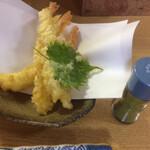 伯蕎庵 しばた - 天ぷら 海老