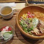 ブルー スカイ ダイナー - ロコモコテリヤキチキンセット(1350円)