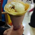 デザート王国 - バナナチョコアイスクレープ