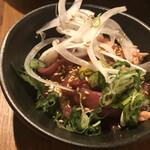 米沢鶏肉店 - 鴨ユッケ