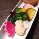 125173332 - 【野菜】産直野菜盛り合わせ アンチョビソース添え 2018.12.11