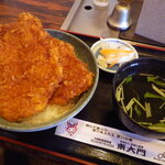 東大門 - 料理写真:わらじかつ丼