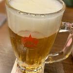 Ginzaraion - サッポロ生ビール 黒ラベル(大ジョッキ) 1,089円