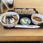 花村 - 志の田そば+半かつ丼  930円