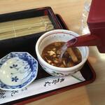 花村 - 最後は蕎麦湯を入れて