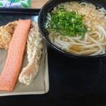 めりけんや - 料理写真:かけ(中)+ちく天+かき揚げ+海老天