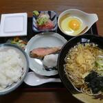 江戸家 - 塩引き定食800円