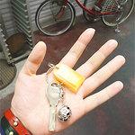 cafeロジウラのマタハリ春光乍洩 - トイレがオートロックなので鍵をもらって入ります。