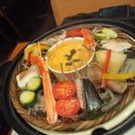 12519496 - 旬の海の幸と季節野菜の蒸しフォンデュ
