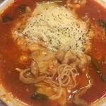 太陽のトマト麺 - 太陽のチーズトマト麺 (麺とチーズ 増量ver.) 細麺ミセ