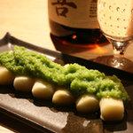 丿貫 - 料理写真:ホワイトアスパラグリーンアスパラ掛け。野菜が美味い。