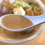清泉寮 ファームショップ - ジャージーMISOヌードルのスープ