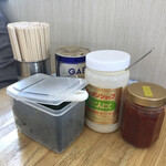 ラーメンショップ - 卓上の味変アイテム