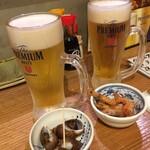 博多 魚助 - ビールとお通し