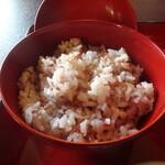 鉢の木 - 赤飯