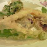 蕎麦ダイニング赤坂 - 野菜天ぷら