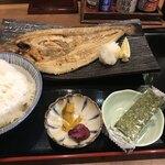 庄や - 料理写真:北海道産真ほっけ開き焼き定食  800円(税別)