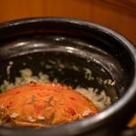 召膳 無苦庵 - 2020.1 ノゴギリガザミとアスパラガスの炊き込みご飯