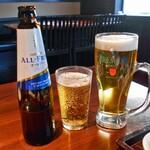坐旺 新潟東店 - 生ビール & ノンアルコールビール