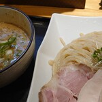 麺処 飯田家 - 料理写真:ベジポタ鶏白湯つけ麺【crema】♪