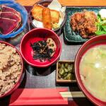 麹蔵 - 麹蔵御膳(黒米入り玄米・大盛) 1,300円(大盛=同一価格)