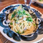 125239068 - 鰤と小松菜のクリームパスタ