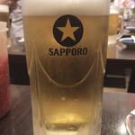 125247051 - いつもの「サッポロ生 黒ラベル」@580                       ちなみにサッポロラガー(赤星)もあります!