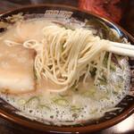 栗ちゃんラーメン - 麺も美味しいです。