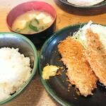 双葉食堂 - 料理写真:アジフライ定食 700円