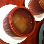 萬珍樓 - ふかひれ、国産牛肉と冬瓜の蒸しスープ