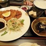 酒菜和の香 - 5.2011.10月 とんかつ定食(母)