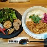 テレット - 鶏豚豆のキーマカレー
