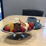 オーレ - チョコレートプリンアラモードバレンタインver¥980 バックアレイブレンド深煎り¥580