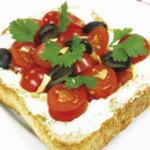 けやき庵 - トマトとクリームチーズのオープンサンド
