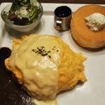 星乃珈琲店 - チーズオムライス、パンケーキ