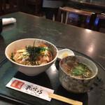 和花乃 - カツ丼と小そば