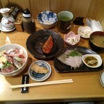 ぎょギョ魚の三太郎 - 本日のランチセット(カワハギ)
