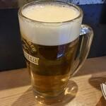 立呑み晩杯屋 - 「生ビール」410円也。