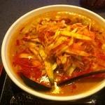 12528272 - ネギ坦々麺 (780円) + 大盛 (100円)