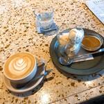 NAGASAWA COFFEE - キャラメルナッツのアフォガードとカフェラテ
