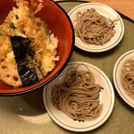麺酒房 文楽 - 料理写真:天丼と皿そば