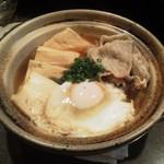 酔い心地 真っ先 - 鍋焼き肉豆腐