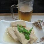 居酒屋 一丁目 - 高野豆腐煮物と生ビール