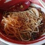 徳島ラーメン 麺王 - 辛もやし ごま ラーメンコショー ガーリックパウダー 乾燥唐辛子投入