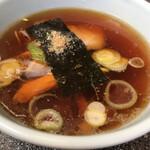 丸福 - つけ麺スープ