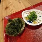 酒呑蕎食〆タグル - 玉子とじそばの薬味