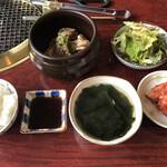 韓国料理 ジンジュ - 牛壺漬けカルビ定食=1300円 税込